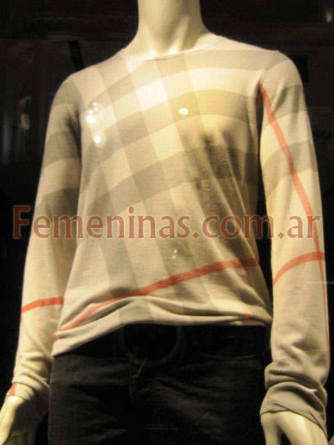 Burberry sweater a cuadros