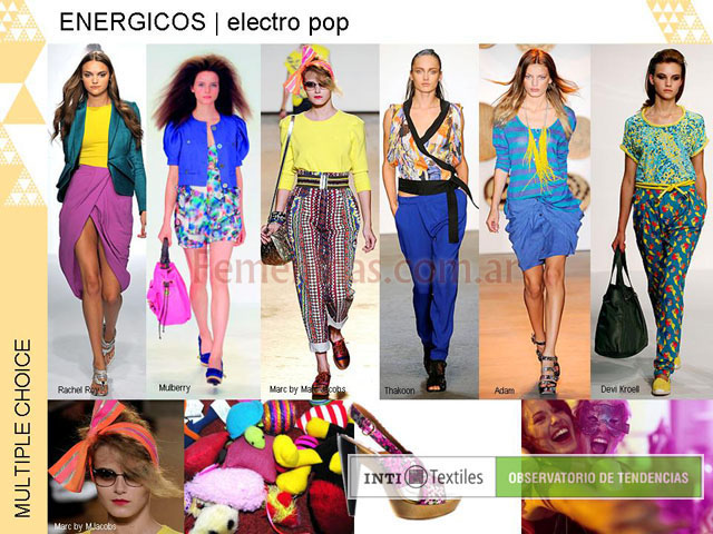 Energicos electro pop prendas coloridas full color estampas