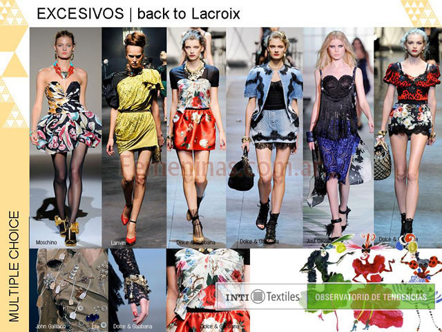 Excesivos back to lacriox colores estampados bordados